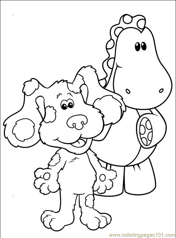 Blues clues thinking chair coloring page coloring pages for Blue clues coloring pages
