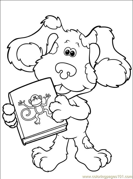 Blue's Clues & You Printable Coloring Page   Nickelodeon Parents   762x567