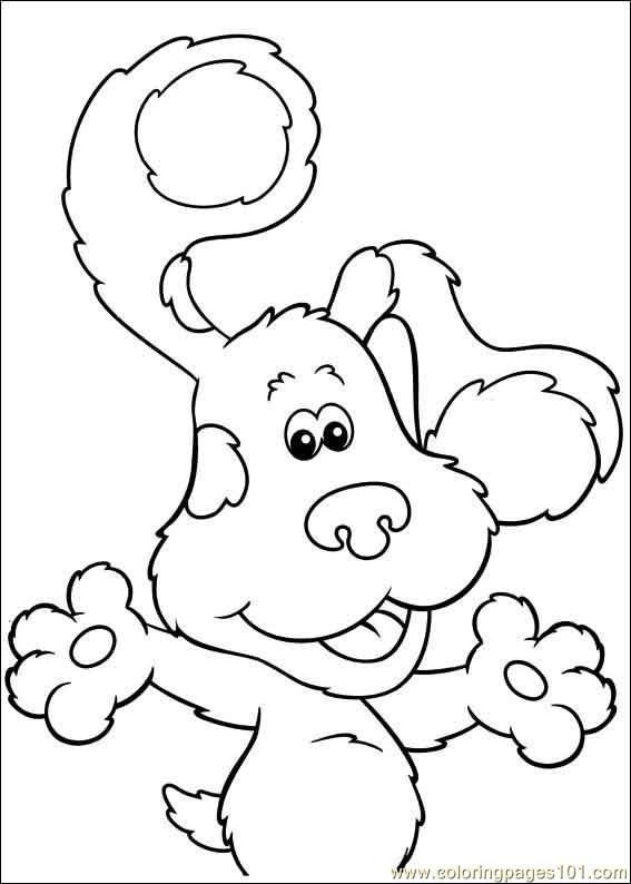 Blues Clues 19 Coloring Page Free Blue S Clues Coloring Pages