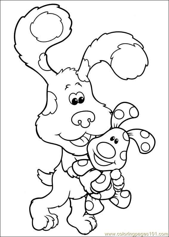 Blues Clues 39 Coloring Page Free Blue S Clues Coloring Blue Clues Coloring Pages