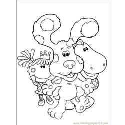 Blues Clues 001 (1) Free Coloring Page for Kids