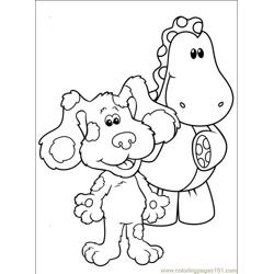 Blues Clues 001 (2) Free Coloring Page for Kids