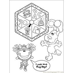 Blues Clues 001 (4) Free Coloring Page for Kids