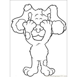 Blues Clues 001 Free Coloring Page for Kids