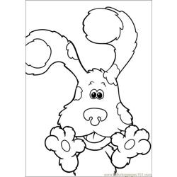 Blues Clues 08 Free Coloring Page for Kids