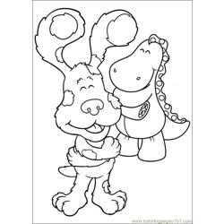 Blues Clues 09 Free Coloring Page for Kids