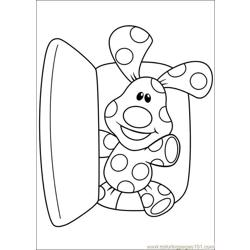 Blues Clues 10 Free Coloring Page for Kids