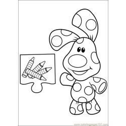 Blues Clues 13 Free Coloring Page for Kids