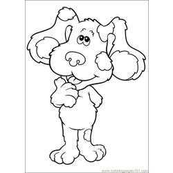 Blues Clues 14 Free Coloring Page for Kids