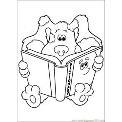 Blues Clues 15 Free Coloring Page for Kids
