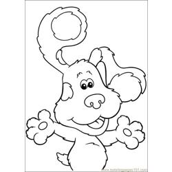 Blues Clues 19 Free Coloring Page for Kids