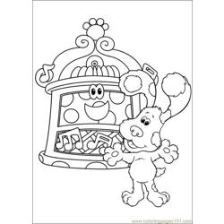 Blues Clues 22 Free Coloring Page for Kids