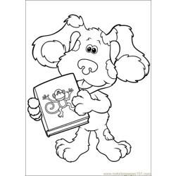Blues Clues 30 Free Coloring Page for Kids
