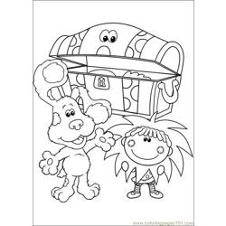 Blues Clues 31 Free Coloring Page for Kids