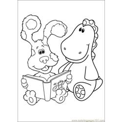 Blues Clues 32 Free Coloring Page for Kids