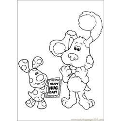 Blues Clues 34 Free Coloring Page for Kids