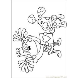 Blues Clues 35 Free Coloring Page for Kids