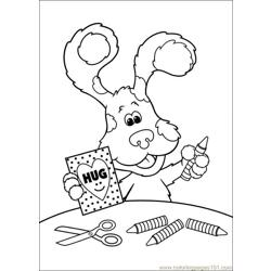 Blues Clues 36 Free Coloring Page for Kids