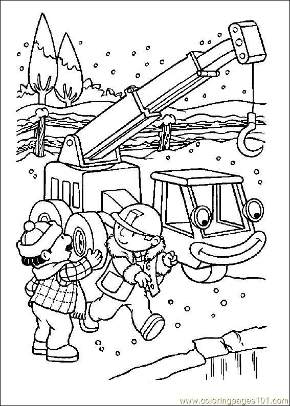 Bob The Builde Coloring Page