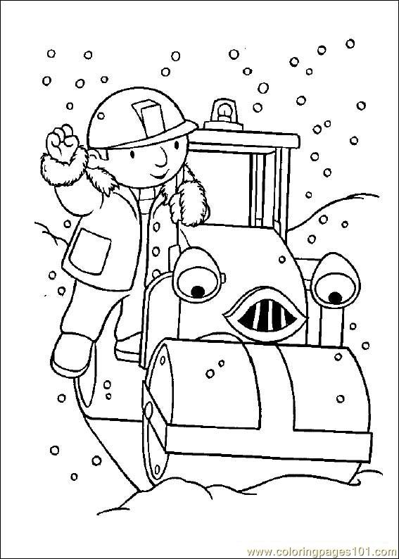 Bob the builder coloring page free bob the builder for Free coloring page maker