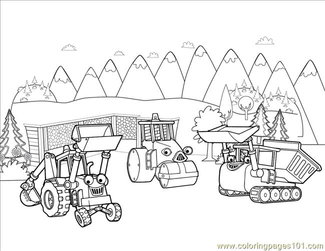 Coop Roley Muck Coloring Page - Free Bob the Builder Coloring Pages ...