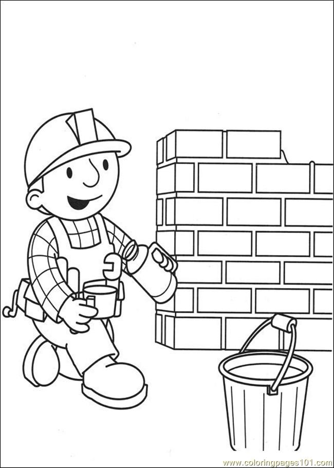 He Builder Coloring Pages 0 Coloring Page Free Bob the Builder