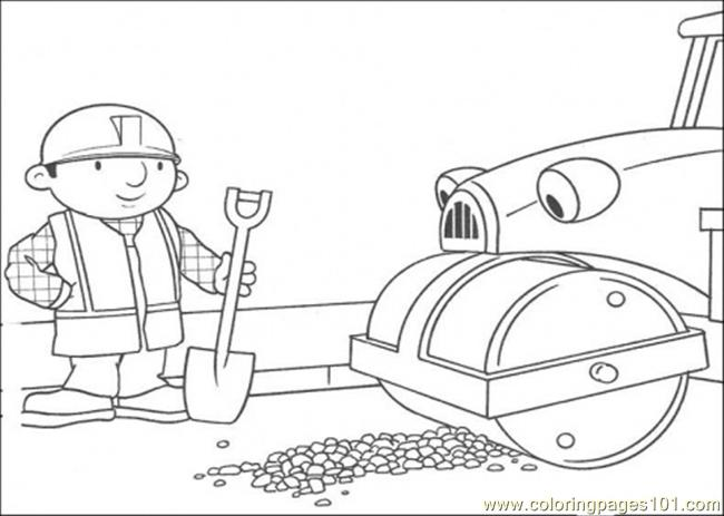 Repair The Road Coloring Page Coloring Page - Free Bob the Builder ...