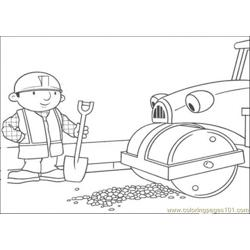 Repair The Road Coloring Page