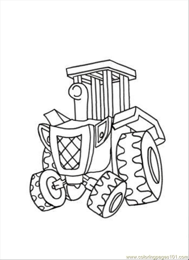 Travis Coloring Page - Free Bob the Builder Coloring Pages ...