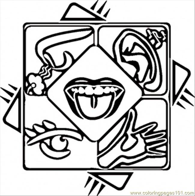 5 Senses Coloring Page Free Body Coloring Pages Coloringpages101 Com