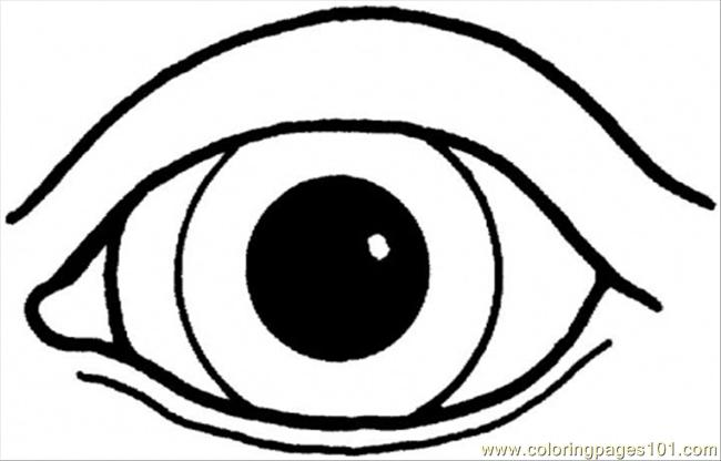 An Eye Coloring Page - Free Body Coloring Pages : ColoringPages101.com
