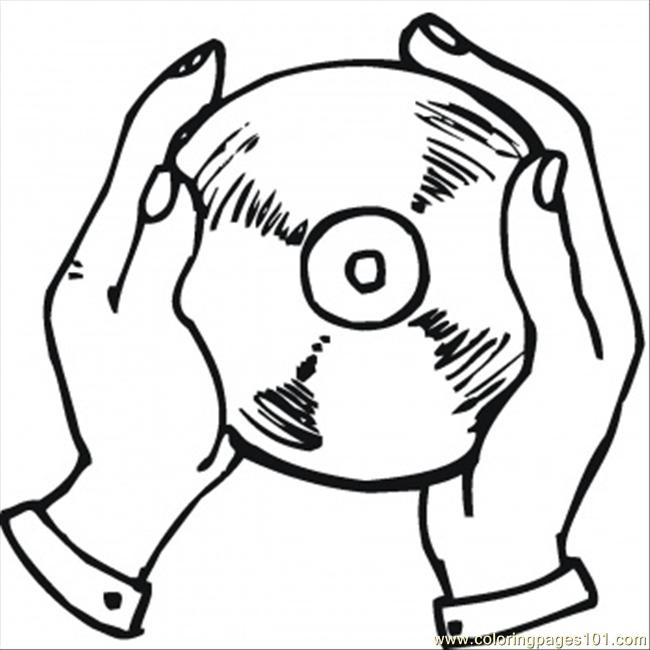 Cd In The Hands Coloring Page