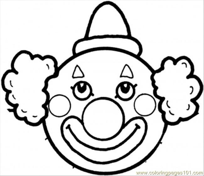 Clowns Face Coloring Page