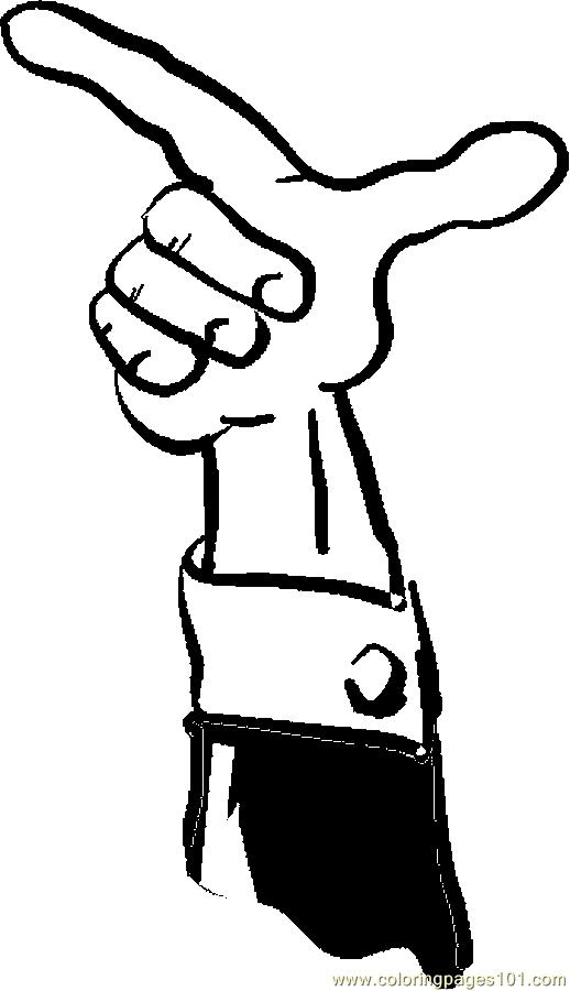 Finger Pointing 073 Coloring Page