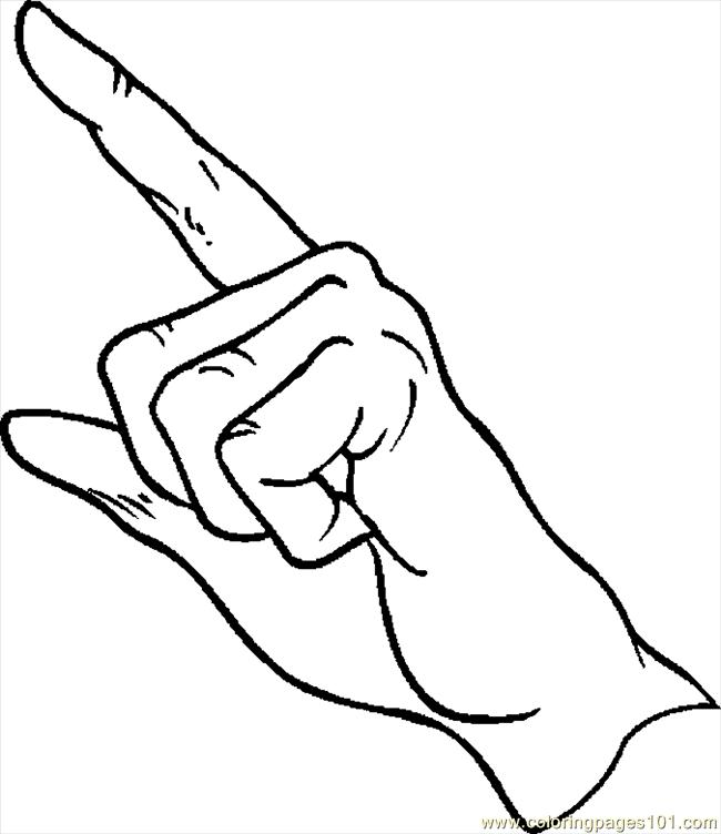 Finger Pointing 092 Coloring Page Free Body Coloring