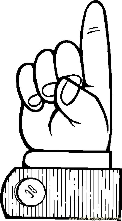 Finger Pointing 137 Coloring Page