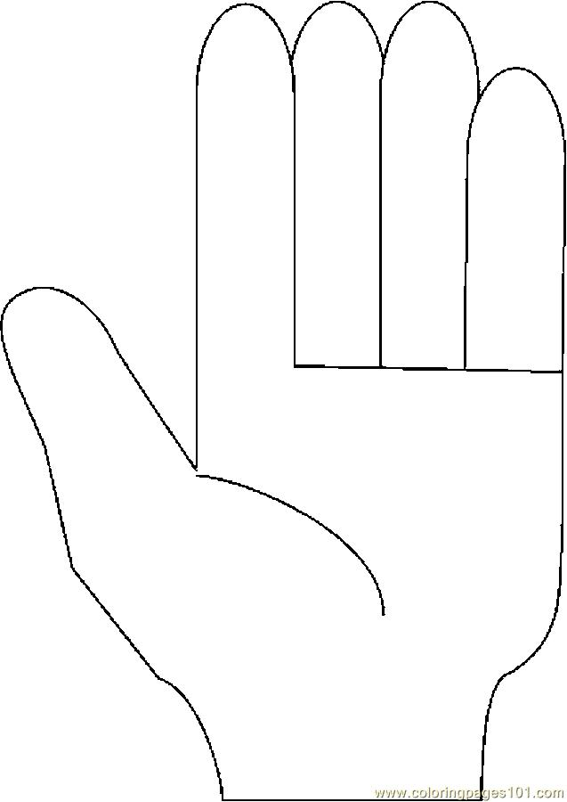 Fingers Counting 5 Coloring Page Free Body Coloring