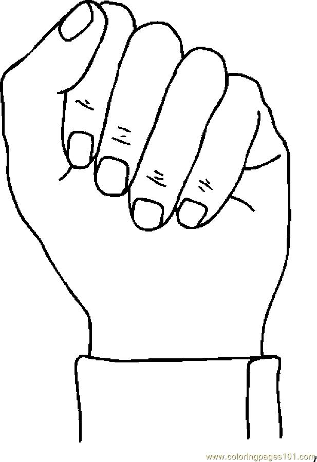 Fist 03 Coloring Page Free Body