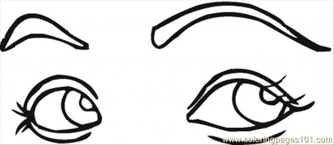 Flirting Eyes Coloring Page - Free Body Coloring Pages ...