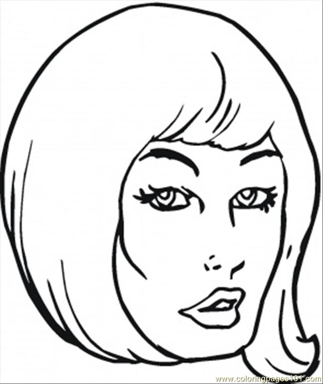 Girl With Beautiful Hair Coloring Page