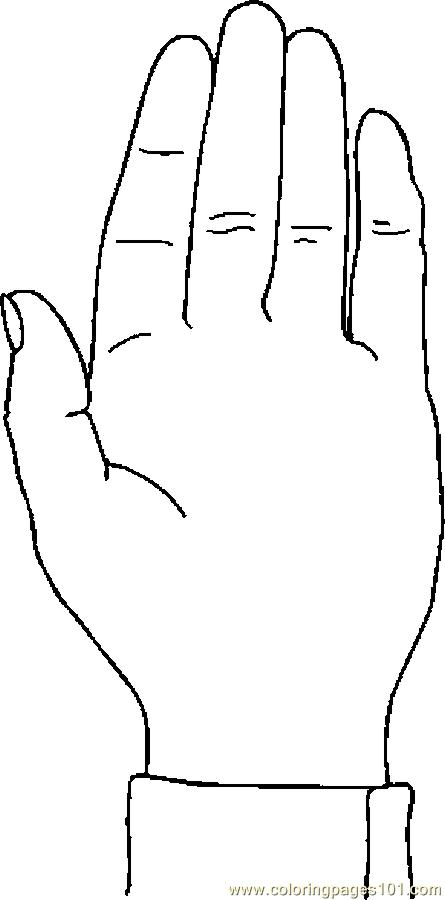 Hand 07 Coloring Page Free Body Coloring Pages