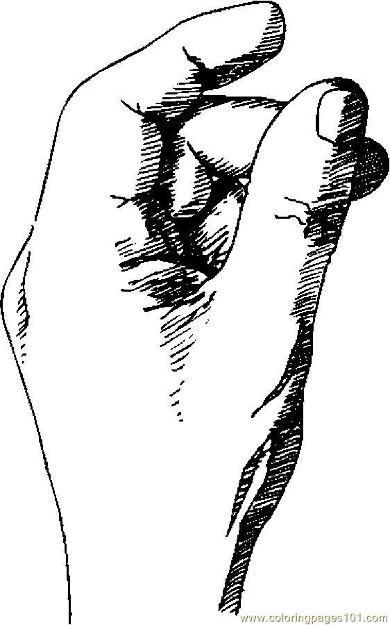 Hand 21 Coloring Page