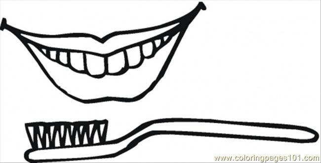 Healthy Smile Coloring Page