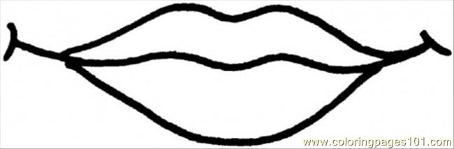 Lips Coloring Page Free Body