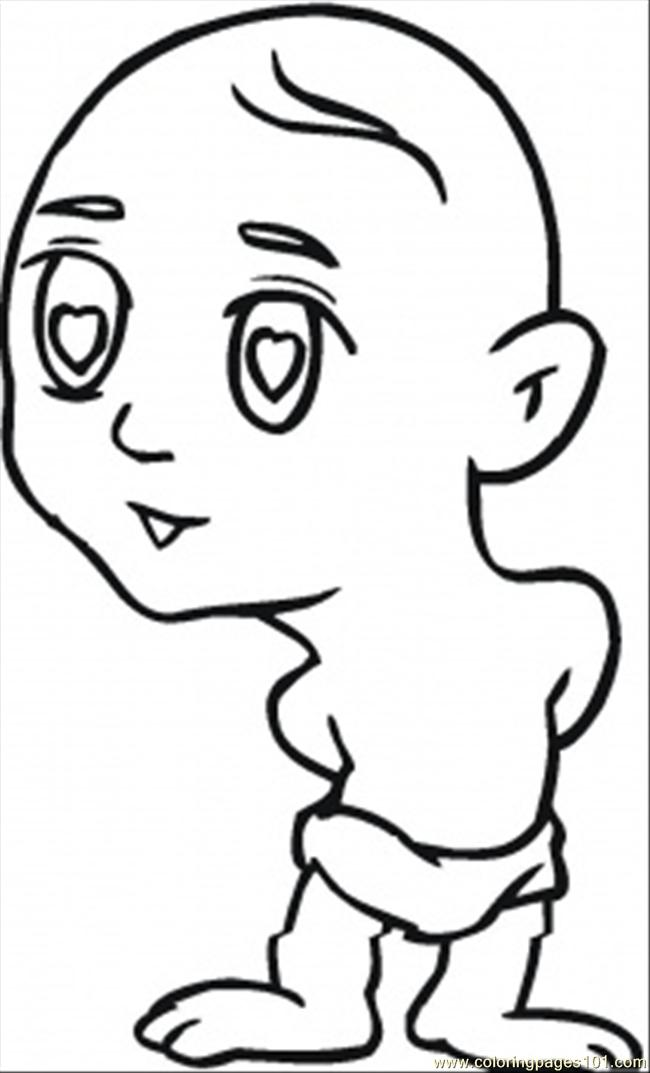 Little Boy Coloring Page