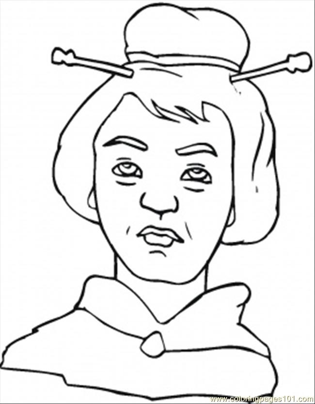 Old Ladys Face Coloring Page