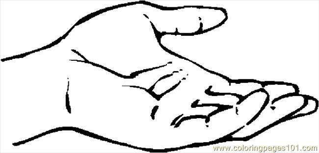 Palm Up Left 4 Coloring Page Free Body Coloring Pages
