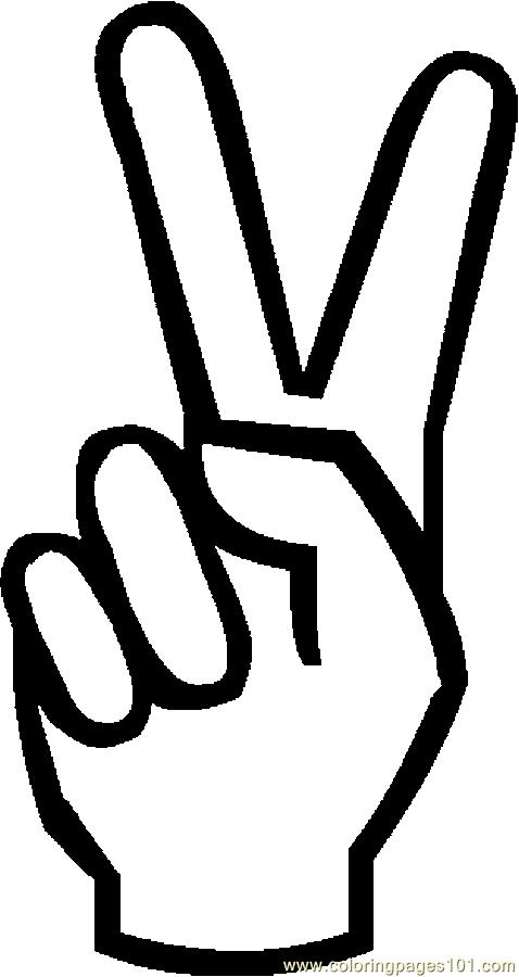 Peace Symbol 02 Coloring Page
