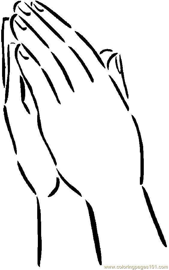 Praying 2 Coloring Page