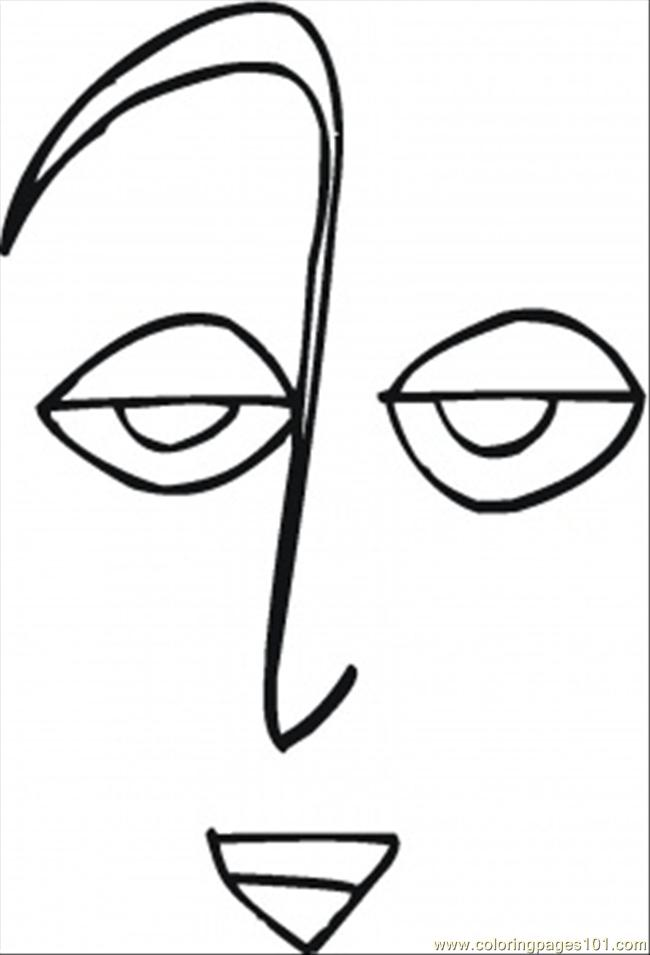 Sad Face Coloring Page